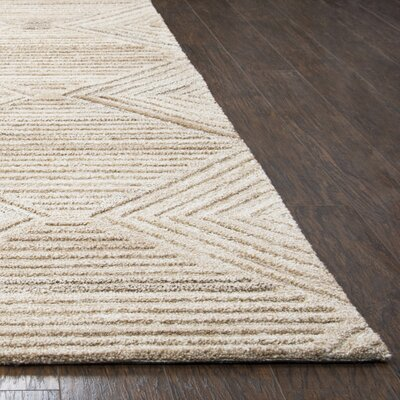 Yucca Place Hand-Tufted Tan Area Rug Rug Size: Rectangle 5 x 8