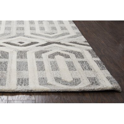 Yucca Place Hand-Tufted Gray Area Rug Rug Size: Runner 26 x 8