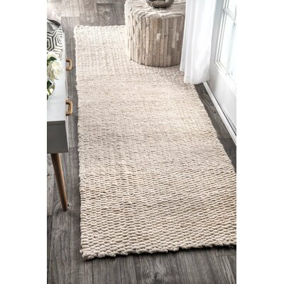 Diskirt Hand-Woven Bleached Area Rug Rug Size: 8 x 10
