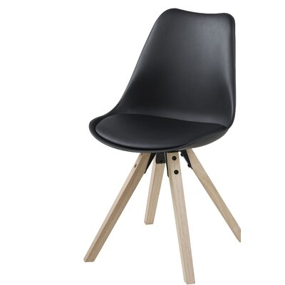 Violeta Upholstered Dining Chair Upholstery: Black