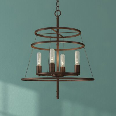 Saturnino 4-Light Candle-Style Chandelier