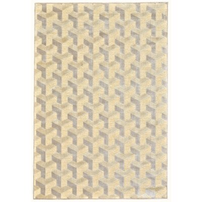 Muriel Cream/Silver Area Rug Size: Rectangle 76 x 106