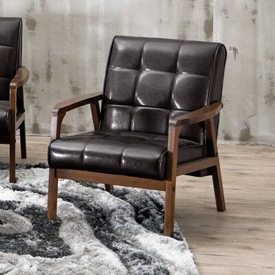 Tucson Mid Century Masterpieces Armchair Upholstery: Brown