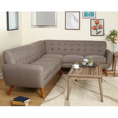 Felicity Sectional Upholstery: Brown