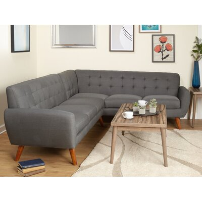 Felicity Sectional Sofa Upholstery: Gray