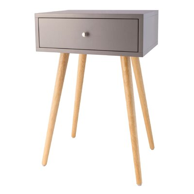 Ariana End Table Color: Cool Gray