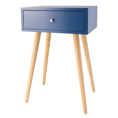 Ariana End Table Color: Navy Blue