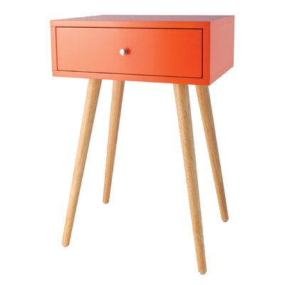 Ariana End Table Color: Tangerine Orange