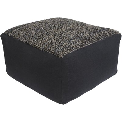 Bennett Pouf Upholstery: Black/Brown