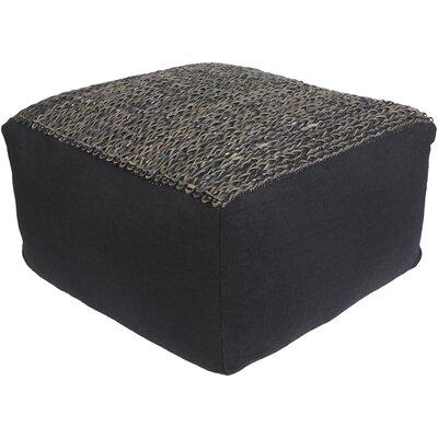 Cholla Pouf Ottoman Upholstery: Black/Brown