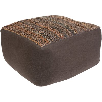 Bennett Pouf Upholstery: Brown/Tan