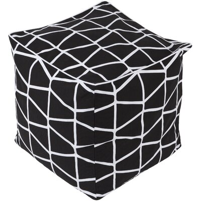 Canning Pouf Ottoman Upholstery: Black