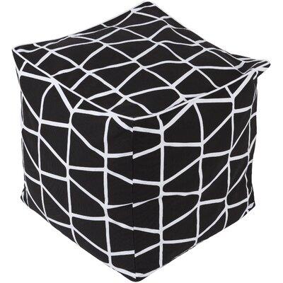 Halverson Pouf Upholstery: Black