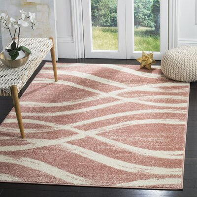 Graciano Pink/Beige Area Rug Rug Size: Rectangle 8 x 10