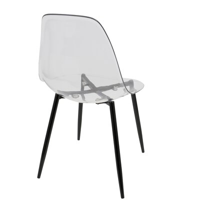 Ivana Side Chair Finish: Black