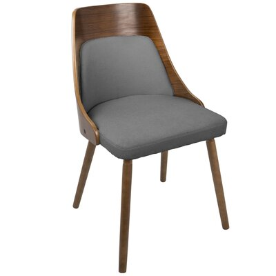 Isabelle Side Chair Upholstery: Gray