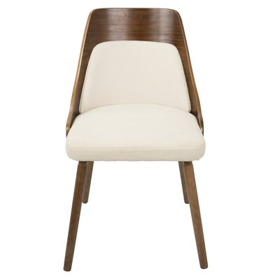 Isabelle Side Chair Upholstery: Cream