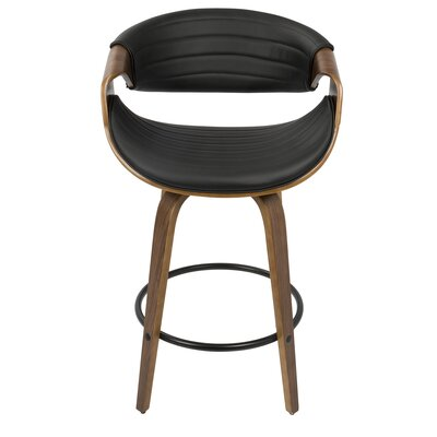 Zigler 26 Bar Stool Upholstery: Black