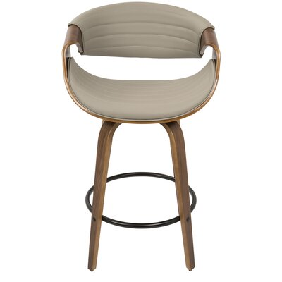 Ellen 26 Bar Stool Upholstery: Gray