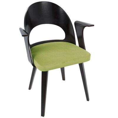 Carlin Arm Chair Upholstery: Green