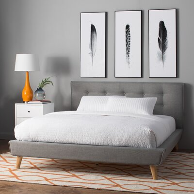 Rasmussen Upholstered Platform Bed Size: Full, Color: Grey