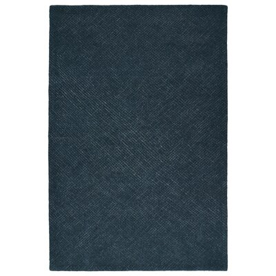 Caneadea Hand-Tufted Denim Area Rug Rug Size: 36 x 56