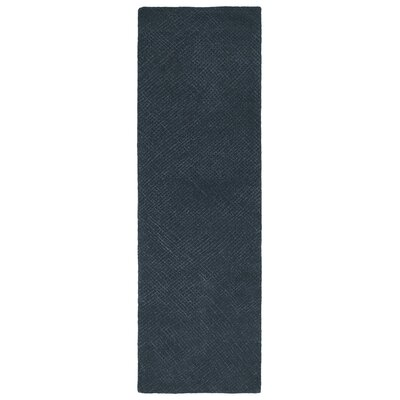 Caneadea Hand-Tufted Denim Area Rug Rug Size: Runner 26 x 8
