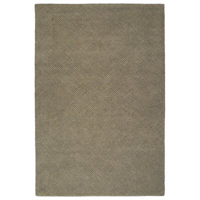 Caneadea Hand-Tufted Gray Solid Area Rug Rug Size: Rectangle 36 x 56