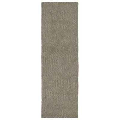 Caneadea Hand-Tufted Gray Solid Area Rug Rug Size: Runner 26 x 8