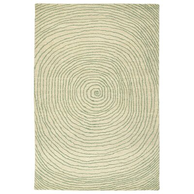 Caneadea Hand-Tufted Green Geometric Area Rug Rug Size: Rectangle 36 x 56