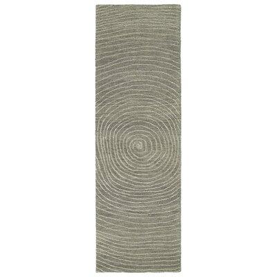 Caneadea Hand-Tufted Gray Area Rug Rug Size: Runner 26 x 8