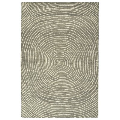 Caneadea Hand-Tufted Gray Area Rug Rug Size: Rectangle 8 x 10