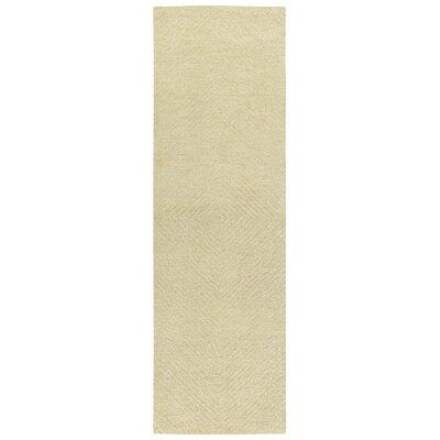 Caneadea Hand-Tufted Sand Area Rug Rug Size: Runner 26 x 8