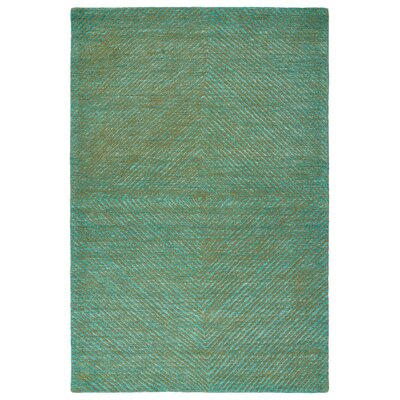 Caneadea Hand-Tufted Turquoise Area Rug Rug Size: Rectangle 9 x 12