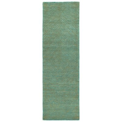 Caneadea Hand-Tufted Turquoise Area Rug Rug Size: Runner 26 x 8
