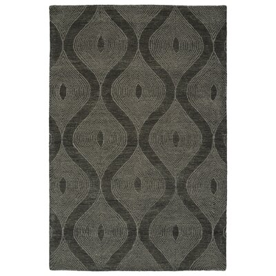 Caneadea Hand-Tufted Charcoal Area Rug Rug Size: Rectangle 36 x 56