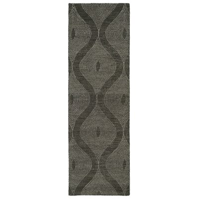 Caneadea Hand-Tufted Charcoal Area Rug Rug Size: Runner 26 x 8
