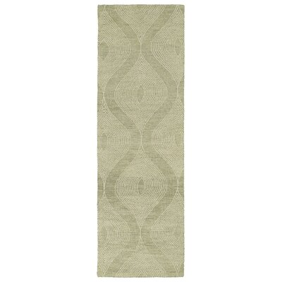 Caneadea Hand-Tufted Sage/Gray Green Area Rug Rug Size: Runner 26 x 8