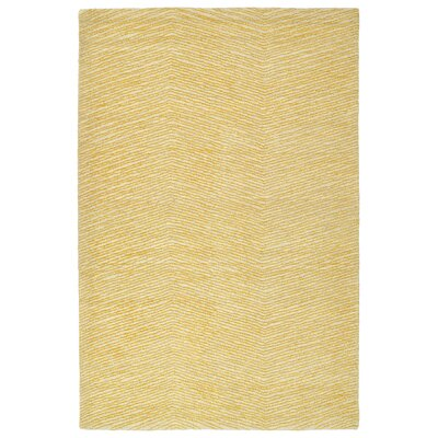 Caneadea Hand-Tufted Gold Area Rug Rug Size: Rectangle 5 x 79