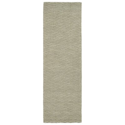 Caneadea Hand-Tufted Green Area Rug Rug Size: Runner 26 x 8