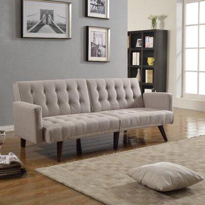 Kaylynn Mid Century Convertible Sofa Upholstery: Beige