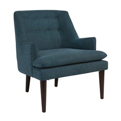 Wellfleet Mid Century Arm Chair Upholstery: Teal