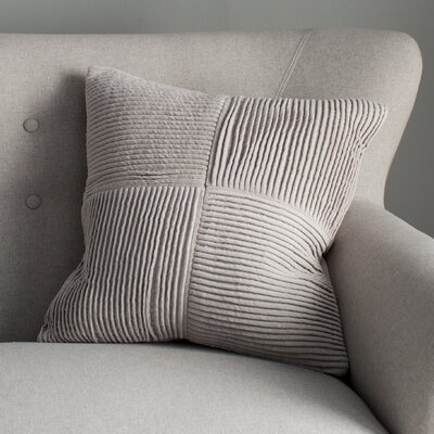 Bellevue 100% Cotton Throw Pillow Cover Size: 22 H x 22 W x 0.25 D, Color: Gray
