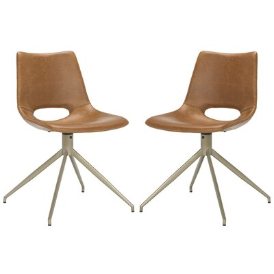 Cordelia Swivel Side Chair Upholstery: Light Brown