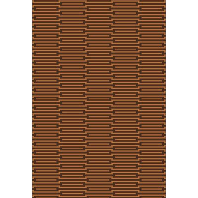 Aleman Espresso/Golden Brown Rug Rug Size: 2 x 3