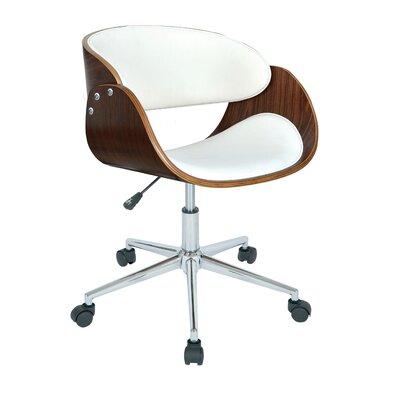 Alsager Mid-Back Desk Chair Upholstery: White