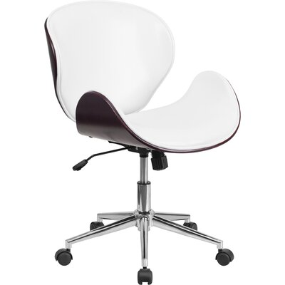Artemis Mid-Back Desk Chair Upholstery: Mahogany / White
