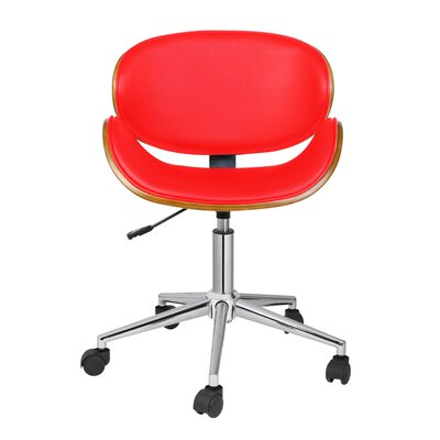 Carlton Desk Chair Upholstery: Red