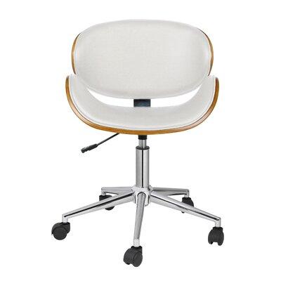 Carlton Desk Chair Upholstery: White