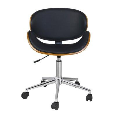 Carlton Desk Chair Upholstery: Black